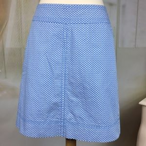 Talbots Blue A-Line Skirt
